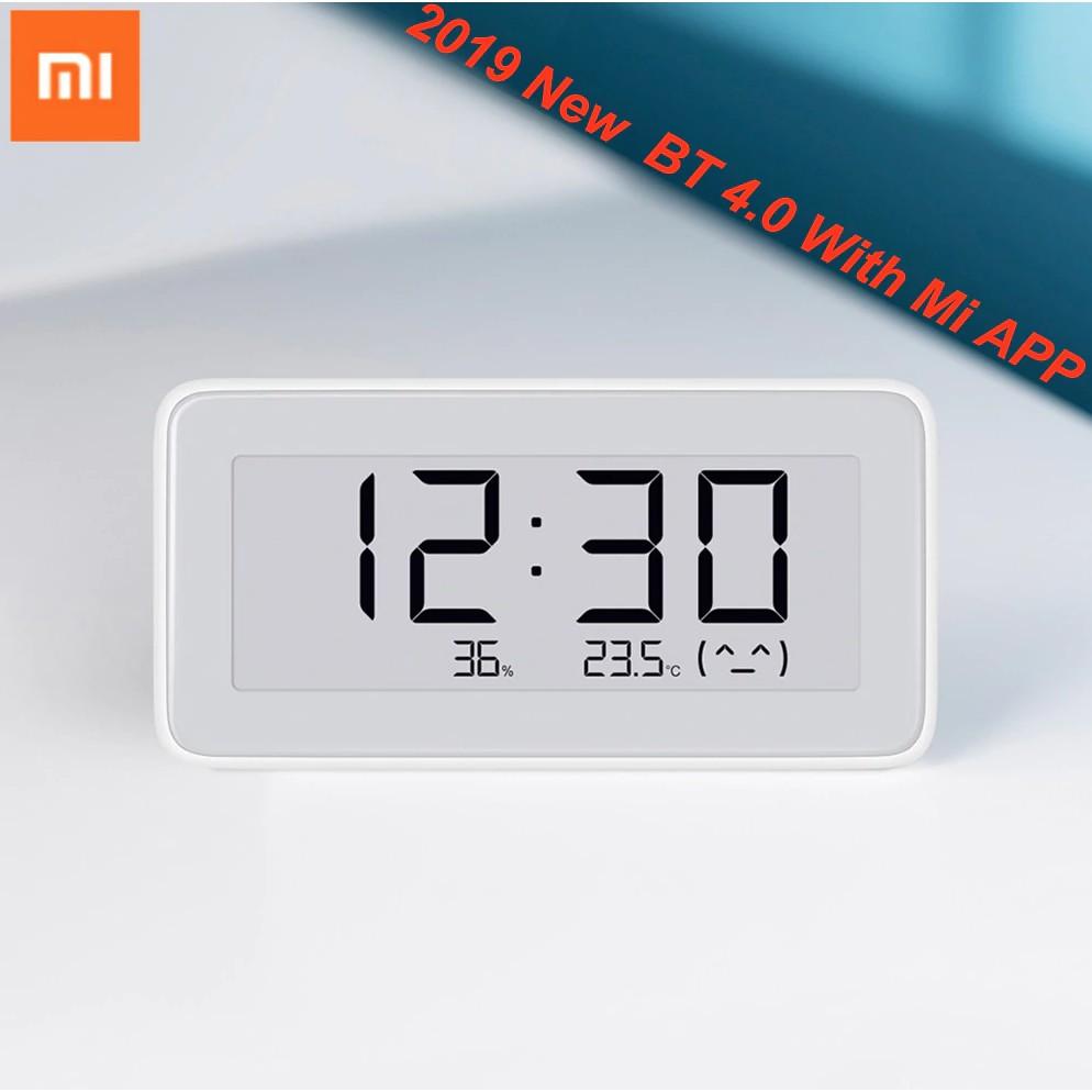[xiaomidanang] Đồng hồ tích hợp nhiệt độ và độ ẩm Xiaomi thông minh | Nhiệt  ẩm Xiaomi | Ver 2019