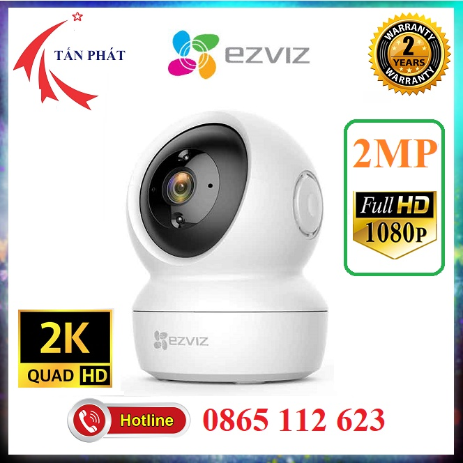 [Mẫu Mới] Camera IP 2MP 4MP XOAY (360) WIFI EZVIZ C6N CV246 C6CN 2K 1080P FULL HD [Có cổng Lan] Bảo Hành 24TH
