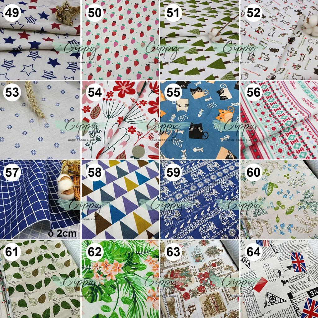 Vải bố canvas size 50x50cm, vintage, decor làm phông nền chụp ảnh, khăn trải bàn 120 mẫu (01-20) - Gippy Decor