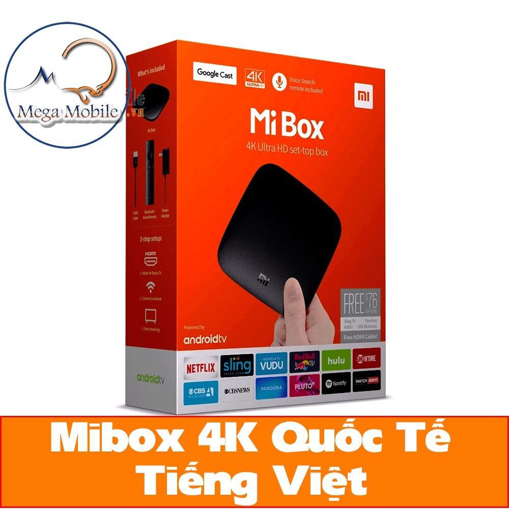[Chính Hãng] Android Tivi Box Xiaomi Mibox 4K Global Quốc Tế Tiếng Việt (MDZ-16-AB)