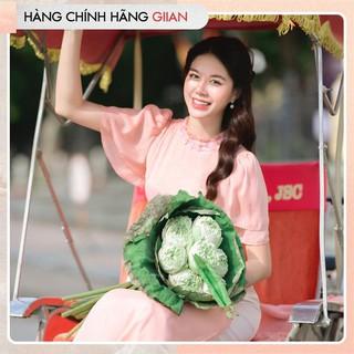 Giian - Áo dài cách tân vải tơ hoa, áo cánh tiên đính hoa 4 tà phong cách nhẹ nhàng,nữ tính- thiết kế chính hãng - AD175 thumbnail