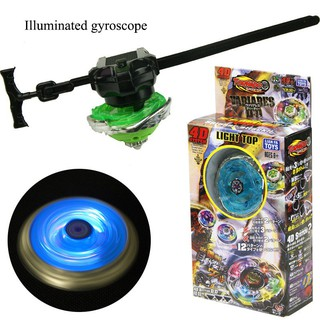 Colorful Luminous Whirlwind Ruler Alloy Gyro Children's Toys