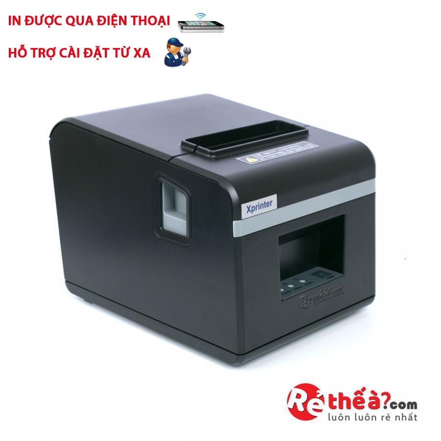 [Mã ELCLMAY giảm 7% đơn 500K] Máy in hóa đơn Xprinter N160II cổng kết nối lan - Hàng Nhập Khẩu + Tặng 5 cuộn giấy in