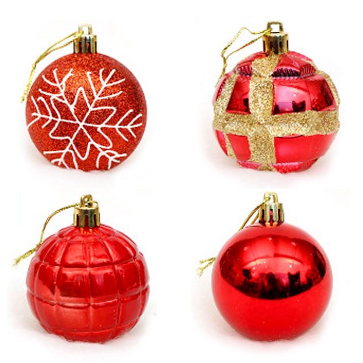 Bộ 4 trái châu giáng sinh Vẽ tay 6cm trang trí cây thông noel - Đỏ AR - 22232151 , 6711698455 , 322_6711698455 , 97000 , Bo-4-trai-chau-giang-sinh-Ve-tay-6cm-trang-tri-cay-thong-noel-Do-AR-322_6711698455 , shopee.vn , Bộ 4 trái châu giáng sinh Vẽ tay 6cm trang trí cây thông noel - Đỏ AR