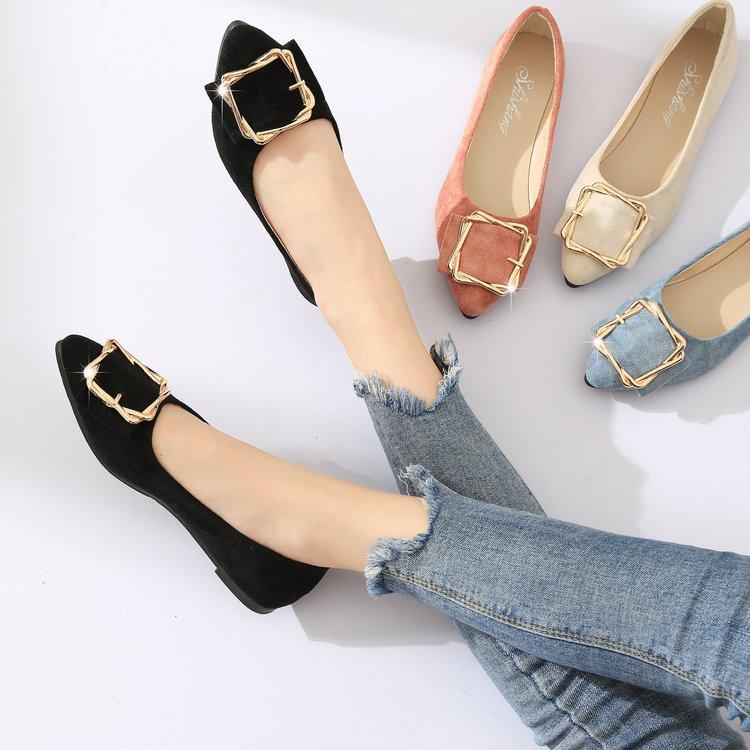 Giày búp bê mũi nhọn phối khóa kim loại xinh xắn cho nữ - 14208476 , 2312279535 , 322_2312279535 , 199000 , Giay-bup-be-mui-nhon-phoi-khoa-kim-loai-xinh-xan-cho-nu-322_2312279535 , shopee.vn , Giày búp bê mũi nhọn phối khóa kim loại xinh xắn cho nữ