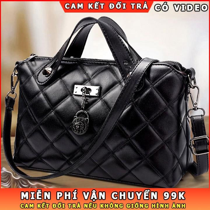 Túi xách nữ công sở giá rẻ chất da mềm mại, cỡ lớn, khoang chứa rộng rãi, nhiều ngăn tiện dụng, đựng vừa ipad