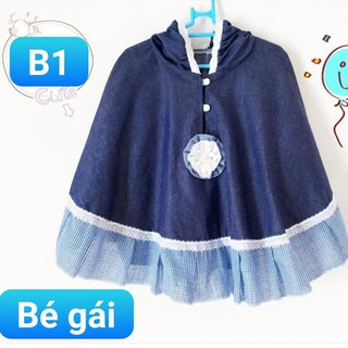 Áo chống nắng cho bé ❤️ BÉ GÁI 3 tháng đến 6 tuổi ❤️ Áo chống nắng cho bé gái hàng thiết kế vải thô giả bò cực đáng yêu