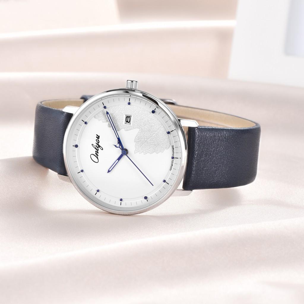 Đồng hồ Onlyou Nam 520002GA Dây Da 40mm