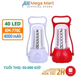 Đèn tích điện KM-770C RECHARGEABLE Hàng Nhập Khẩu Bóng Led Siêu Sáng