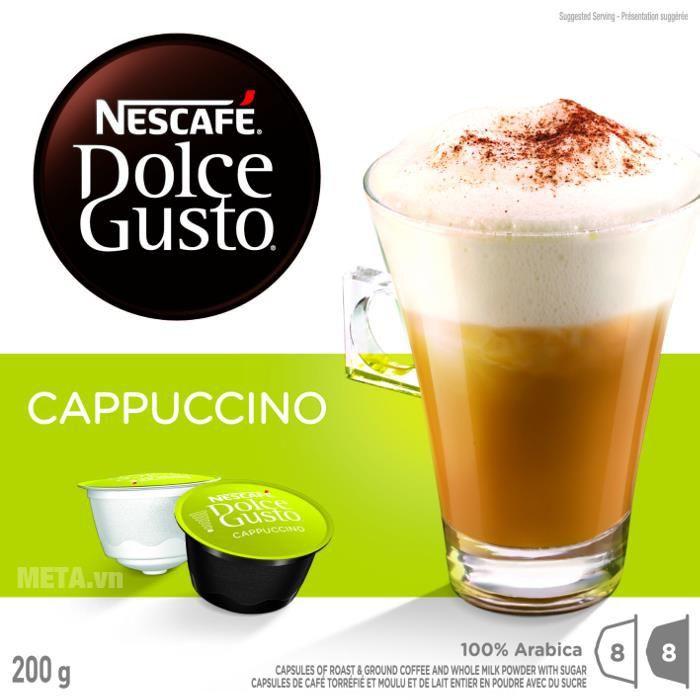 Viên nén cà phê vị cà phê sữa Nescafe Dolce Gusto – Cappuccino