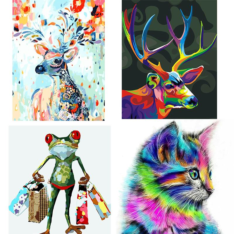 BB@Cat Fawn Animals DIY Acrylic Paint By Number Kit Oil Painting Canvas Wall Decor