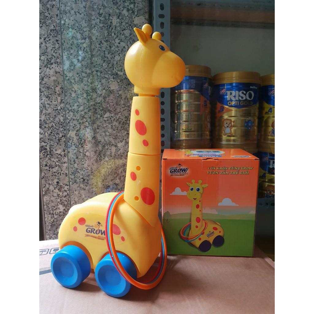 Bộ đồ chơi vận động hươu ném vòng cao cổ