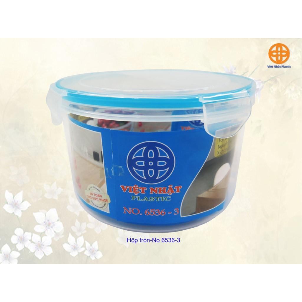 Bộ 3 hộp tròn bảo quản thực phẩm Việt Nhật (Hộp lạnh tròn 6536 Việt Nhật)