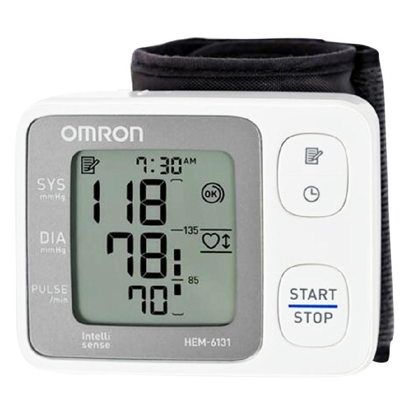 Máy đo huyết áp cổ tay Omron HEM-6131 (Trắng)