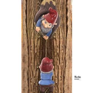 MELODG Patio Climbing Gnomes Garden Yard Art Polyresin Garden Gnomes Decoration Ornaments Whimsical Tree Statue Sculpture Outdoor Tree Hugger Decor