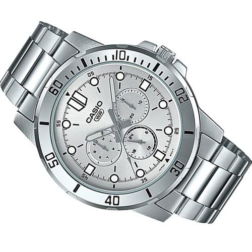 Đồng hồ nam CASIO chính hãng MTP-VD300, dây kim loại