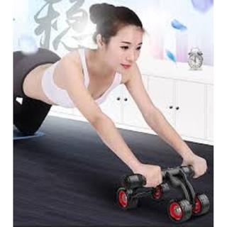 Con lăn dụng cụ máy lăng tập cơ bụng 4 bánh vững chắc dễ tập cho cả nam và nữ đa năng cỡ lớn Tặng kèm thảm