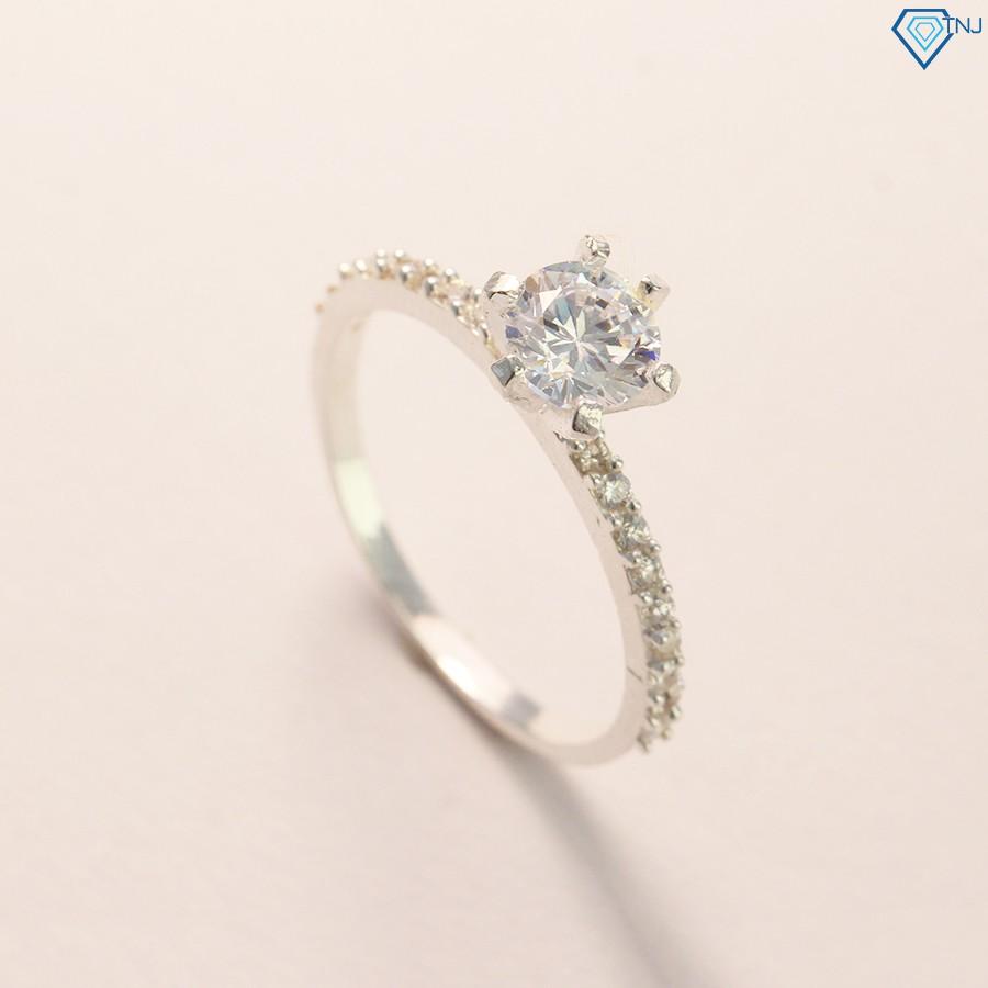 Nhẫn bạc nữ đẹp đính đá giá rẻ NN0188 - Trang Sức TNJ