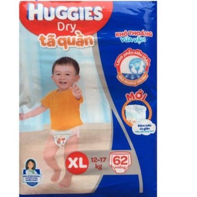 Tã quần Huggies XL62/XL42