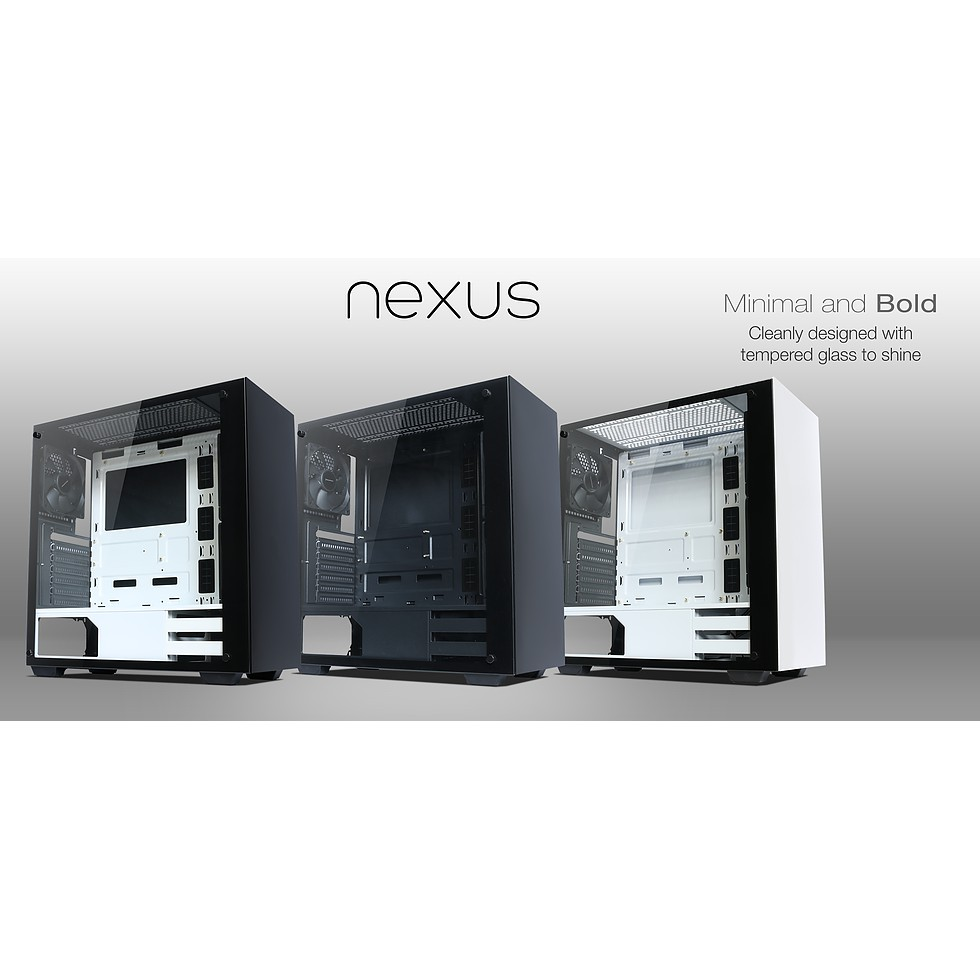 Case NEXUS BW Tempered Glass ATX – Black/White Giá chỉ 1.020.000₫