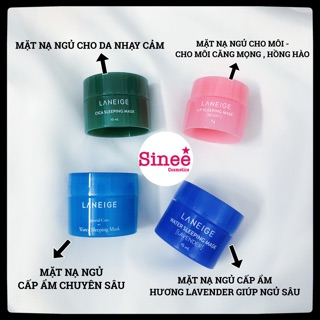 [Minisize] Mặt nạ ngủ Laneige mặt nạ ngủ cho môi mặt nạ ngủ cho mặt thumbnail