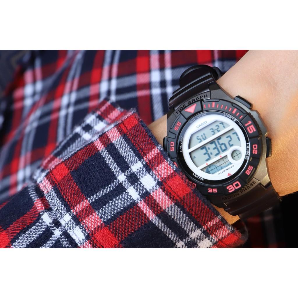 Đồng hồ nữ dây nhựa Casio LWS-1100H-8AVDF chính hãng