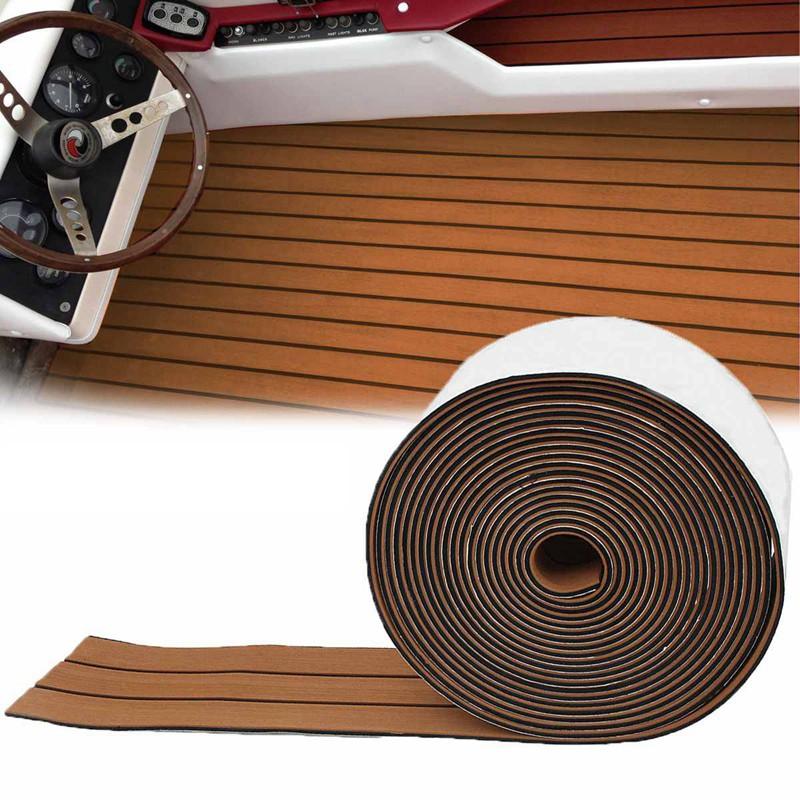 1Roll 2400X17Cm Eva Foam Teak Deck Sheet Self Adhesive Boat Yacht Mat