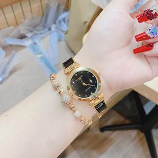 (Sunrise nữ) Đồng hồ nữ Sunrise mặt vuông , mặt tròn, kính chống xước, máy nhật, bảo hành 12 tháng
