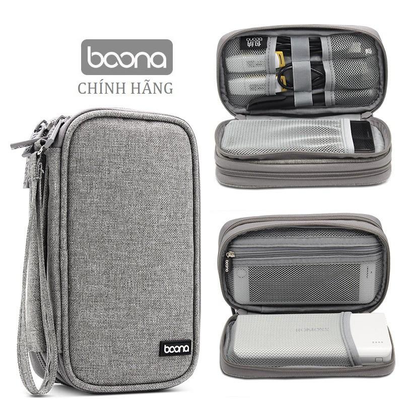 Túi đựng điện thoại sạc dự phòng Baona / Boona dáng dài kiêm hộp đựng phụ kiện điện tử ổ cứng di động BN-E003 E001