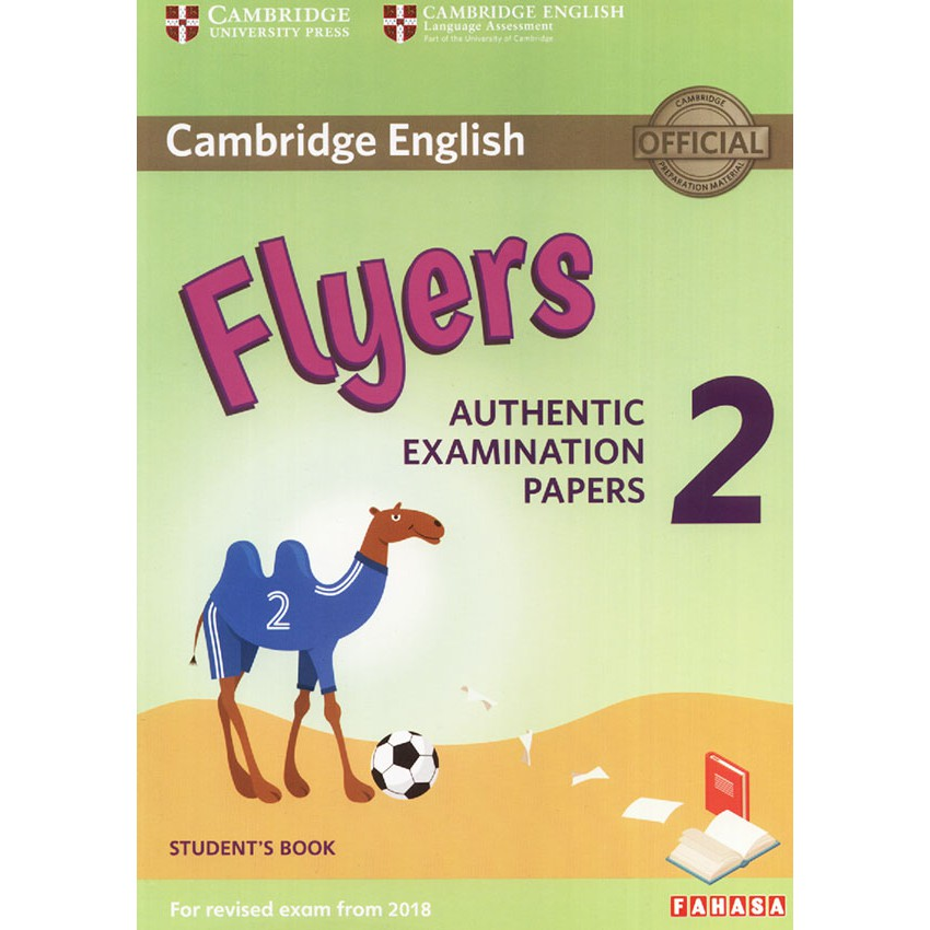 Cambridge English - Flyers 2 (For revised exam from 2018) - 3099473 , 1173039140 , 322_1173039140 , 130000 , Cambridge-English-Flyers-2-For-revised-exam-from-2018-322_1173039140 , shopee.vn , Cambridge English - Flyers 2 (For revised exam from 2018)
