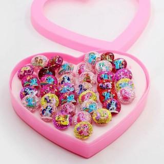 Combo 3 Nhẫn đeo tay hoạt hình nhiều màu cho bé gái thumbnail