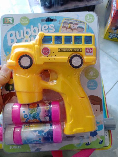 Súng bắn bong bóng hình xe [tặng kèm pin]