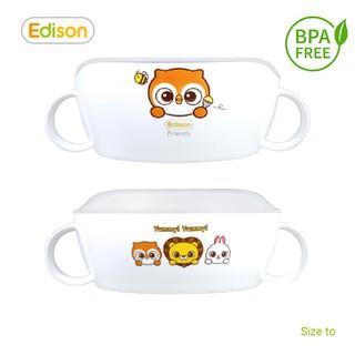 Đồ dùng ăn dặm cho bé MADE IN KOREA - Bát ăn dặm cho bé chống trượt có nắp đậy Edison