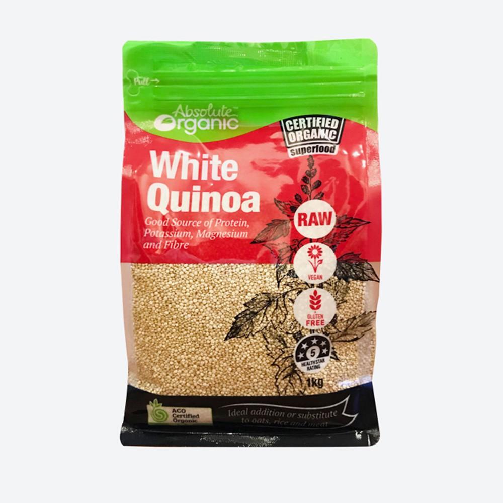 Hạt diêm mạch Organic Quinoa Của Úc Absolute Organic 1kg chuẩn Úc Hạt diêm mạch Organic Quinoa Của Úc Absolute Organic 1kg chuẩn Úc