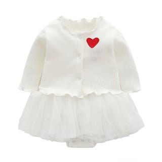Set váy kèm áo khoác ngoài cho bé sơ sinh 0-12 tháng