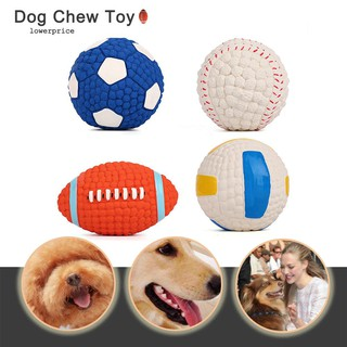 Football Volleyball Tennis Rugby Dog Bite Resistant Pet Sound Training Ball Toy