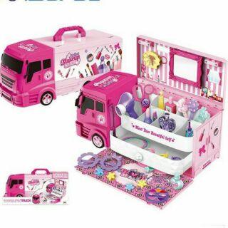 Bộ đồ chơi xe tải chở đồ trang điểm- bán kem cho bé mẫu mới siêu hot thumbnail