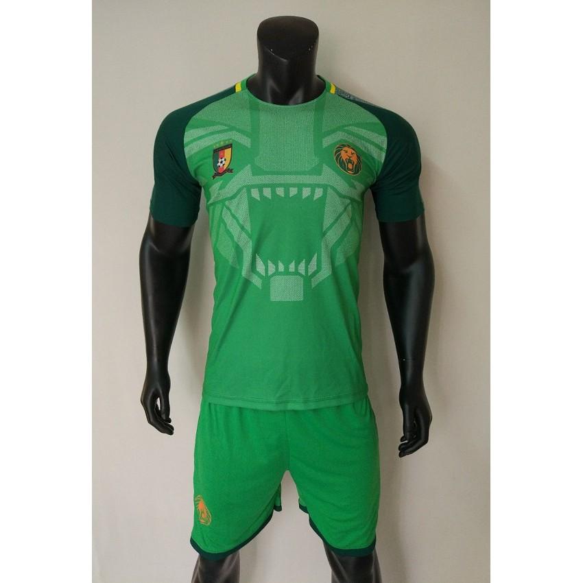 Quần áo bóng đá Cameroon xanh lá 2018