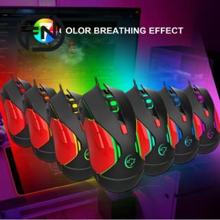 G837 Mouse Competitive Game Luminous Mouse Colorful Lighting Game Computer Controller
