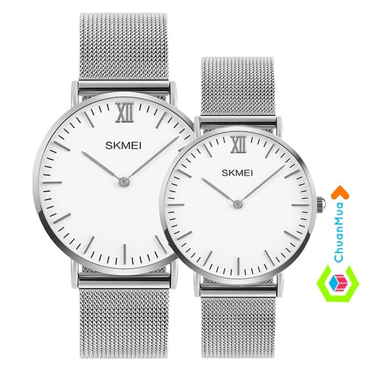 Đồng hồ Đôi Skmei 1181-1182 dây thép lưới SK1181