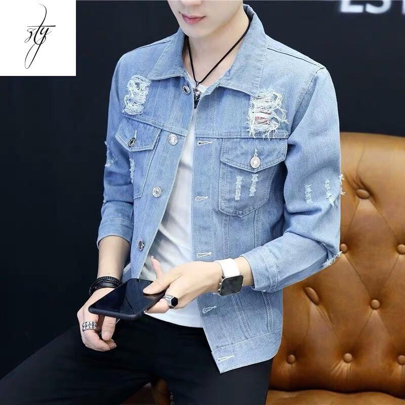 [Trợ giá SHIP 40K] Áo khoác jean nam thời trang hàn quốc siêu chất cao cấp | Áo khoát jeans nam sành điệu mẫu hot giá rẻ - Áo khoác jeans