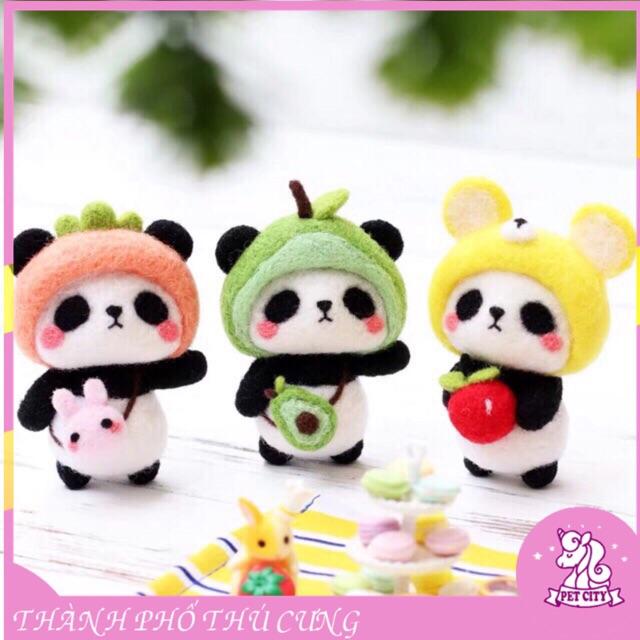 [Có hướng dẫn] Bộ kit len chọc Panda tinh nghịch