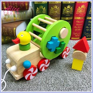 Đồ chơi Xe kéo con vịt thả hình khối – Phát triển tư duy cho bé giá rẻ