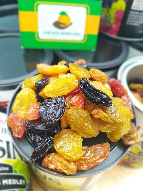 [Tổng kho] Nho khô Raisins Mỹ Jumbo size mix 4 loại nho của Sunview - Tiệm Gà Con - Nho khô xịn giá tốt nhất Tết 2021