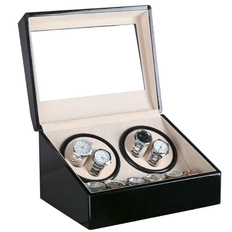 Hộp đựng đồng hồ cơ 4 xoay và 6 trưng bày bằng gỗ - Hộp đựng đồng hồ cơ
