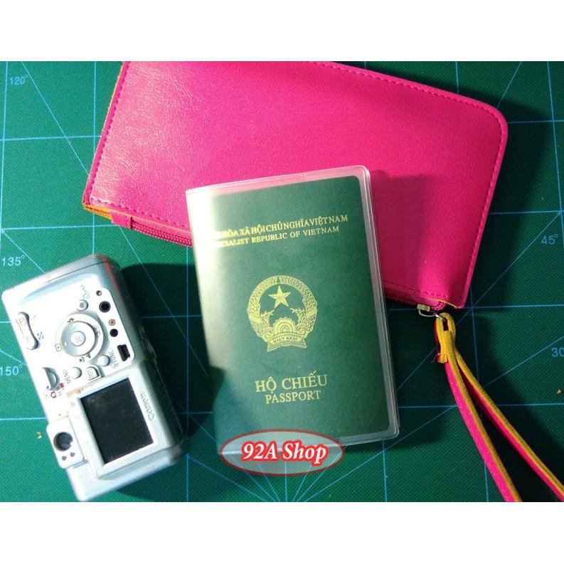 Vỏ Hộ Chiếu Passport Trong Suốt PVC