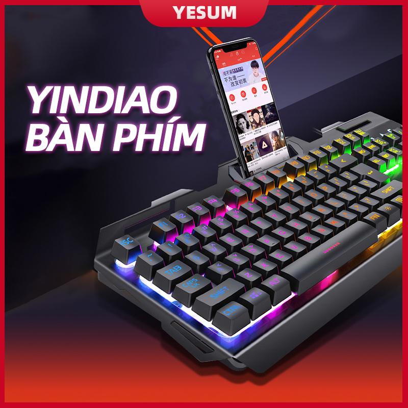 【Bàn phím cơ】 mới nhất Bàn phím có đèn nền RGB Hiệu ứng đèn nền cầu vồng Bàn phím thiết kế tiện dụng