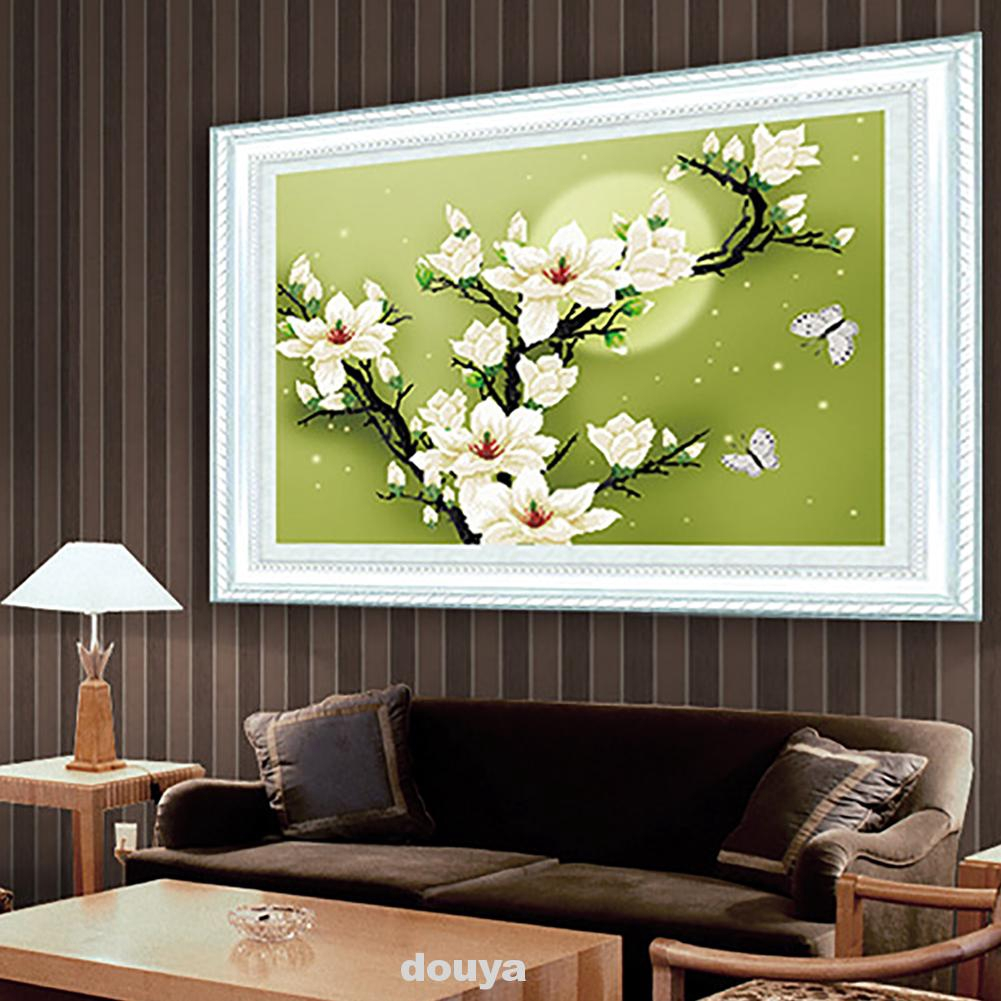 Cross Stitch embroidery kit precise printed magnolia flowers pattern