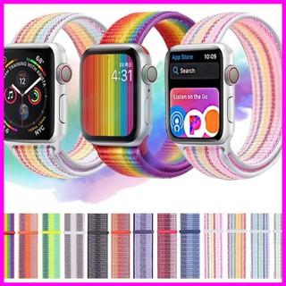 Dây đồng hồ  Apple Watch Serise 6 SE 5 4 3 2 1, dây nylon họa tiết cầu vồng