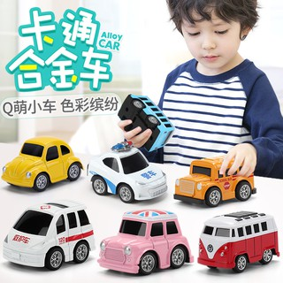 Toy Car☎▨✲Children's toys alloy car back to the model suit baby boy 4 children half 1-2-3 one full year of life